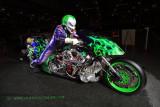 Supercharged, nitromethane fuelled, TOP FUEL Harley!
