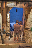 The blue attraction in a small alley