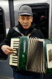 Busking Accordionist on the RER Metro