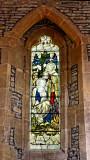 window memorial to Maud Belton...