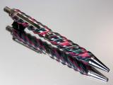 Spiral Design Very Berry Dymondwood Click Gel or Ballpoint Black Titanium Hardware
