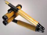 Tonkin Cane Bamboo Fly Rod  Black Titanium Fountain Pen