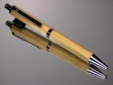 Tonkin Cane Bamboo Fly Rod Blank Gel or Ballpoint Click Pen Black Titanium Hardware