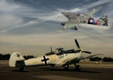 Messershmidts 109 and 262 at Biggin Hill Photoshop.jpg