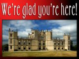 'We're glad you're here' slide from the Sherborne Castle series