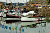Black and white boats, Mevagissey, Cornwall