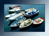 Cluster of boats, Mevagissey, Cornwall