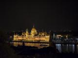 Lit up Parliament building
