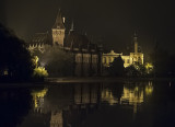 The castle on a rainy night
