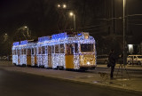 Christmas Tram in action