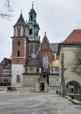 A deserted Kraków Cathedral, Wawel Hill