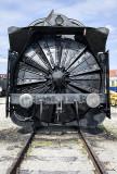 Rotary snowplow engine