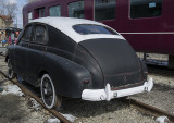 Car converted for rail