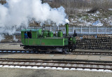 Steam engine in operation