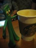 Enjoying a visit to Starbuck's