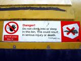 Do not sleep in this bin !