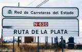 Ruta de la Plata sign on the N-630