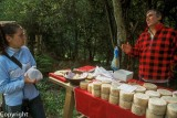 Selling Gamonedo cheese by the roadside in Asturias