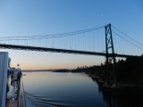 Coming up to the Lion's Gate Bridge