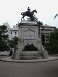 Another view of the statue in Plaza Zabala