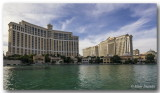 The Bellagio and a partial view of the Ceasars.