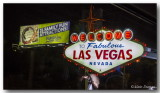 The old road sign when entering Vegas....still there.