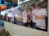 family photo collage at a market in Bangkok Thailand