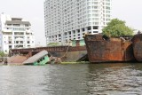 Sinking Barges in the Chao Phraya River