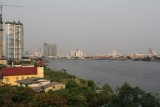 View from our hotel balcony overlooking the Chao Phraya River