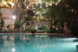 Anantara Bangkok Riverside Pool at Night
