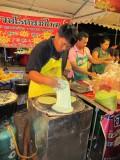 Street vendor making pancakes