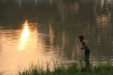 Ping River Fisherman at Sunset