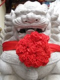 Happy Chinese Lion Statue in Phuket