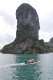 Ao Nang Cliffs, Sea and Longboat