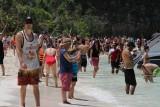 Crowds at Ko Phi Phi Beach