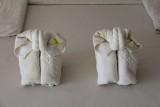 Golden Beach Resort Towel Elephants