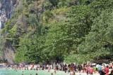 Crowds at Phra Nang Beach