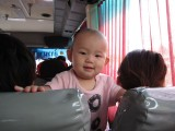 this guy became our friend on the bus to the Krabi airport
