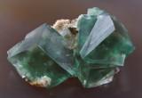 Heights Mine fluorite, 5 cm, Eastgate, Weardale, Co Durham. Beautiful sharp, undamaged, gemmy crystals.