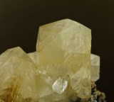 Doubly terminated calcite crystals to 22 mm on sphalerite, Jug Vein, Brownley Hill Mine, Cumbria. Ex Lindsay Greenbank.