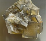 Fluorite crystals to about 2 cm in 4 cm group. High Skears Mine, Middleton-in-Teesdale, Co Durham.
