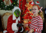 GRANDDAUGHTER KATIE VISITS THE GRINCH, AT THE DOWNTOWN THEATER