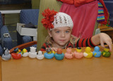 GRANDDAUGHTER ARWEN GETS HER DUCKS IN A ROW  -  ISO 200