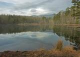 TRANQUIL MOUNTAIN LAKE, NEAR ASHEVILLE, NORTH CAROLINA  -  TAKEN ON A MORNING HIKE