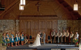 WEDDING AT THE GAITHER CHAPEL, ON THE CAMPUS OF MONTREAT COLLEGE  -  ISO 1600  -  AN IN-CAMERA HDR IMAGE