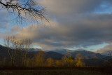 Morning Light and a Snowy Ridge