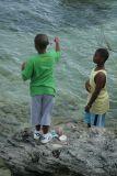 boys fishing near Long bay, sandys