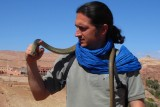Cristian with Montpellier snake