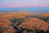 Moonrise from Inspiration Point, Bryce Canyon National Park, UT