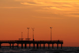 Pier Fishing at Sunrise